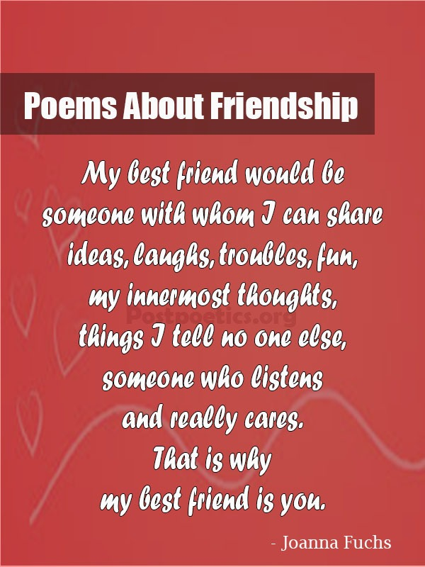 best friend poem