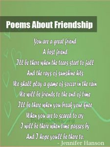 lovely friedship poetry