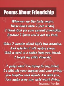 poetry about friendship