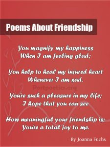 short friendship poems